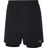 Mizuno Alpha 7.5 2in1 Shorts Men Black/Black